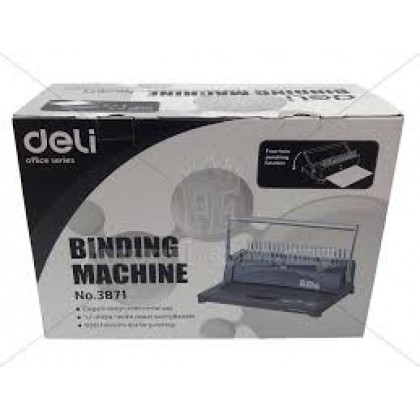 Deli Binding Machine 3871 + Binding Rings (100 Pcs) - BindingMachineOnly