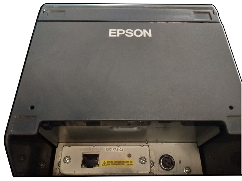 Epson Thermal Receipt Printer Tm T82 Lan Port Used Unit