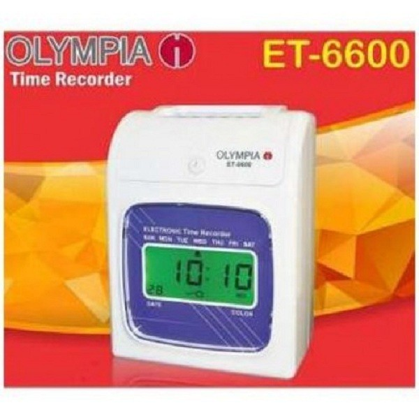 OLYMPIA Time Attendance Punch Card Machine ET 6600