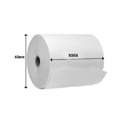 80mm x 60mm Thermal Receipt Paper Roll Kertas Cash Register POS
