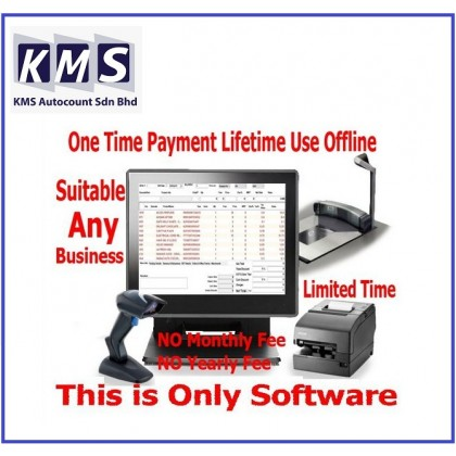.Pos System Retail  - One Time Payment Lifetime Use Offline Version