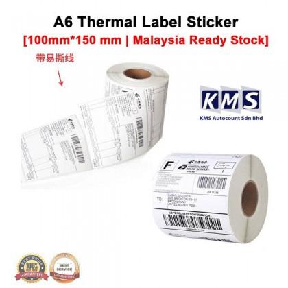 A6 Air way bil Label Thermal Paper 10x15cm Print Shipping Shopee Consignment Barcode Kertas Sticker 100x150mm 热敏纸 500pcs