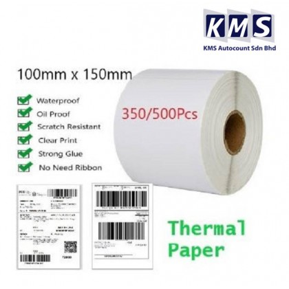 A6 Thermal Paper Waybill label 100mm x 150mm Waterproof Scratch Resistant Label Sticker Barcode Printer