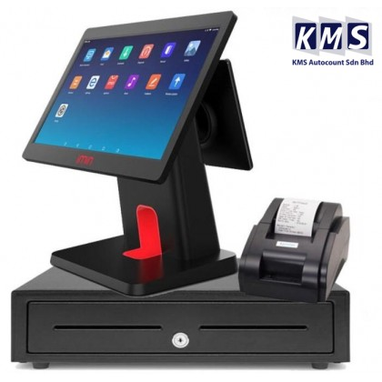 Android All in One 15.6 inch + 10.1 Dual screen + Cash drawer + Thermal Printer + Lovyerse software for FNB