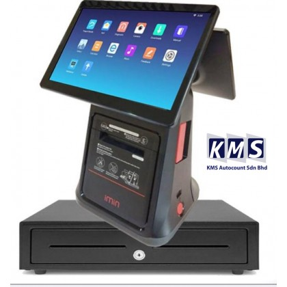Android All in One 10.1 inch + 10.1 Dual screen Build in printer  + Cash drawer + Lovyerse software for FNB