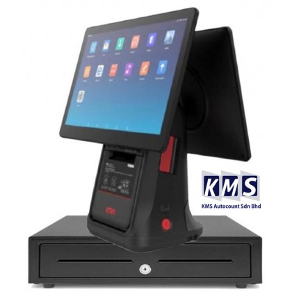 Android All in One 15.6 inch + 15.6 Dual screen Build in printer  + Cash drawer + Lovyerse software for FNB