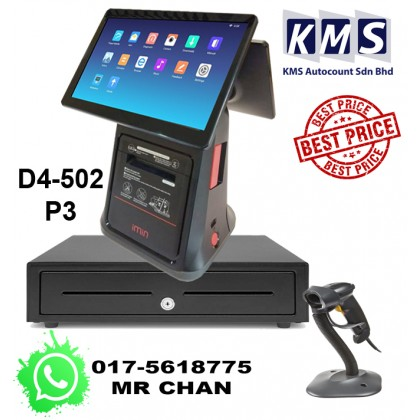 Android All in One 10+10inch Build in Printer + Cash Drawer + Barcode Scanner + Loyverse software for Retail