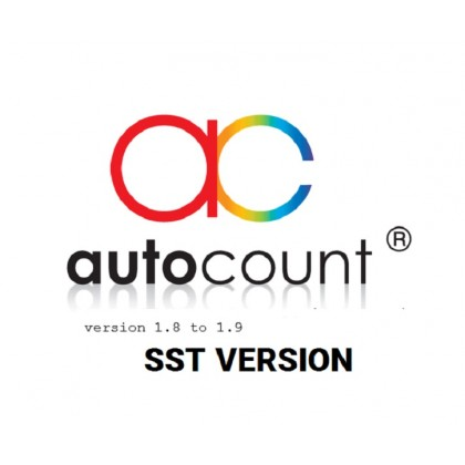 AutoCount Express Invoicing / Express Stock / Complete / Basic / POS 3.0 Basic / POS 3.0 Standard Software Upgrade from version 1.8 to 1.9 SST
