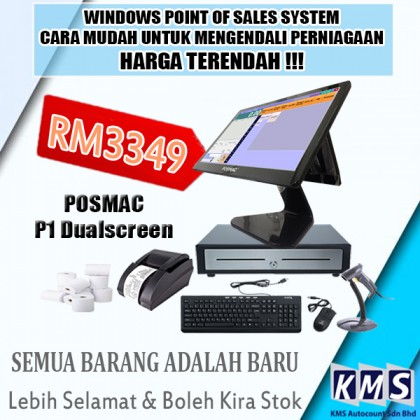 ALL IN ONE POSMAC P1 POS SYSTEM WINDOWS POINT OF SALES SYSTEM PACKAGE