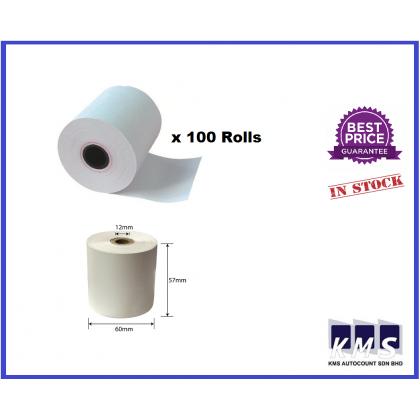 100RollS 57mm x 60mm X 12MM Thermal Receipt Paper Roll
