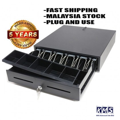 5 COMPARTMENT Super Heavy Cash Drawer Register Box POS System With ( 5 BILL 5 COINS) LARGE TRAYS