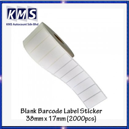 Blank Barcode Label Sticker 38mm x 17mm (2000pcs) (1roll)