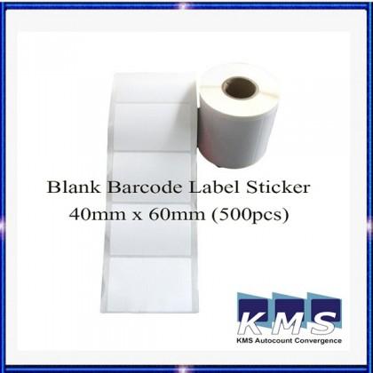 Blank Barcode Label Sticker 40mm x 60mm (500pcs) (1roll)